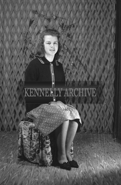 1953; A Studio Photo Of A Woman Posing For The Camera.