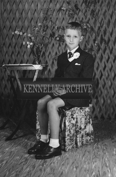 1953; A Studio Photo Of A Communion/Confirmation Boy.