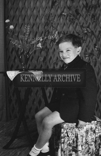 1953; A Studio Photo Of A Boy