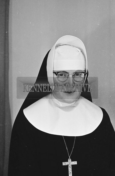 1953; A Studio Photo Of A Nun.