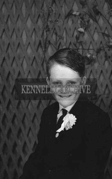 1953; A Studio Photo Of A Confirmation Boy.