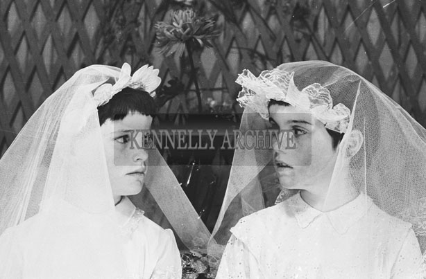 1953; A Studio Photo Of Two Communion Girls.