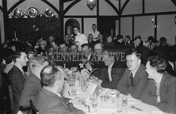 13th February 1954; People enjoying the night in Benners Hotel at the Social and Economic Science graduation dinner.