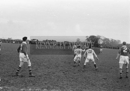 16th February 1954; The action in Austin Stack Park during the Railway Cup Semi-final when Connaught deveated Munster 2-9 to 2-8.