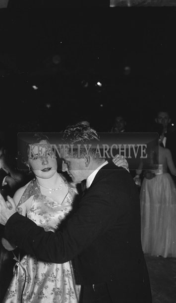 16th February 1954; A Couple Dancing At The 7th Annual Traly Footwear Dress Dance And Buffet At Ashe Memorial Hall Tralee. Music Supplied By The Alan Beale Orchestra.