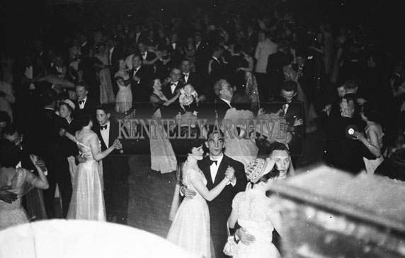 16th February 1954; Crowd Dancing At The 7th Annual Traly Footwear Dress Dance And Buffet At Ashe Memorial Hall Tralee. Music Supplied By The Alan Beale Orchestra.