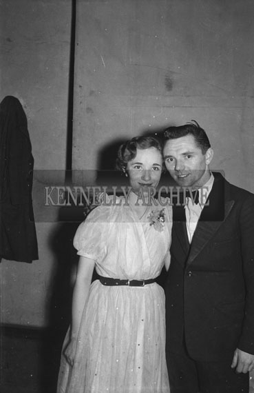 16th February 1954; A Couple Posing At The 7th Annual Traly Footwear Dress Dance And Buffet At Ashe Memorial Hall Tralee. Music Supplied By The Alan Beale Orchestra.