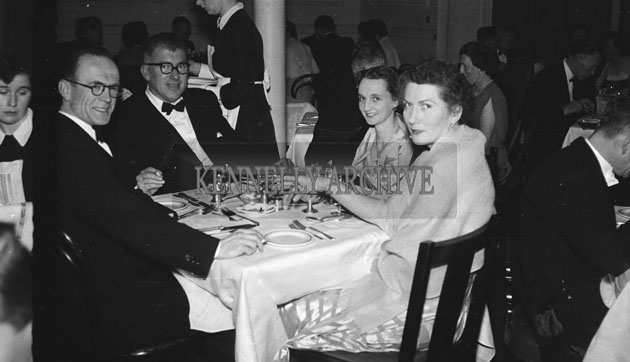 January 1954; Ned and Mary Fitzmaurice (centre) Enjoying Dinner At The Golf Dress Dance And Dinner In Killarney.