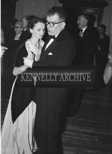 January 1954; Mary and Ned Fitzmaurice dancing at the Golf Dress Dance and Dinner In Killarney.