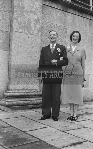 10th February 1954; The Wedding of Michael Fleming And Mary Mulvey, Both Chemists From Killarney. The Event Took Place In Cork.