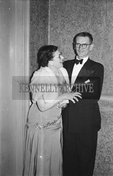 January 1954; A Couple Posing At The Golf Dress Dance And Dinner In Killarney.