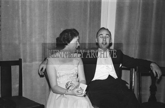 January 1954; A Couple Relaxing At The Golf Dress Dance And Dinner In Killarney.