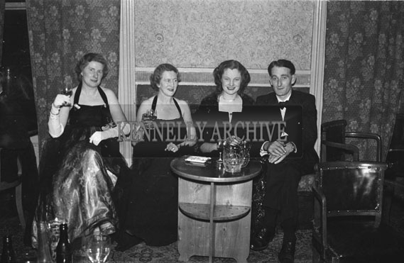 January 1954; A Group Of People Relaxing At The Golf Dress Dance And Dinner In Killarney.