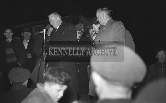 19th February 1954; Speeches At The Celebrations In Abbeydorney As The Abbeydorney National Ploughing Champions Are Welcomed Home.