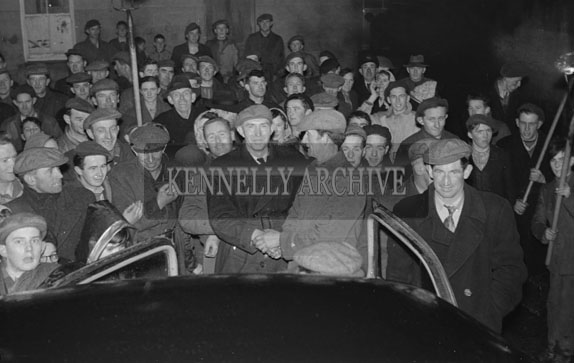 19th February 1954; Street Celebrations In Abbeydorney As The Abbeydorney National Ploughing Champions Are Welcomed Home.