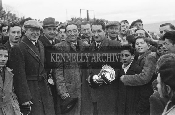 26th-28th December 1953; The trophy presentations in Ballybeggan Park during the Kingdom Cup coursing meeting.