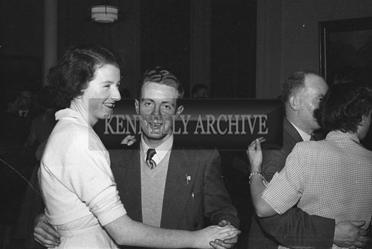 December 1953/January 1954; A Dancing Couple At A Social At The Meadowlands Hotel.