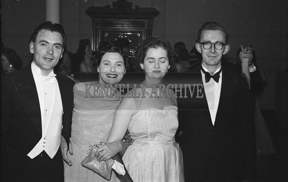 February 1954; People enjoying themselves at the TCLS dance at the Killarney Lake Hotel.