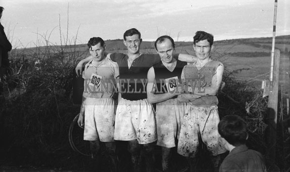17th January 1954; A Photo Taken at The Kerry Senior Cross-Country Championship At Bullock Hill, Tralee. The Winner Of The Event Was D O'Sullivan From Kenmare.