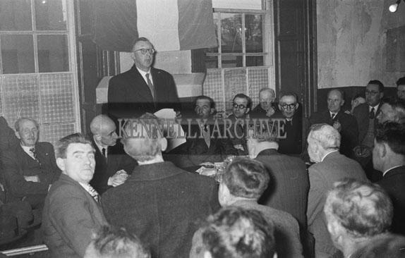 1st March 1954; A Crowd At A Fianna Fail Meeting.