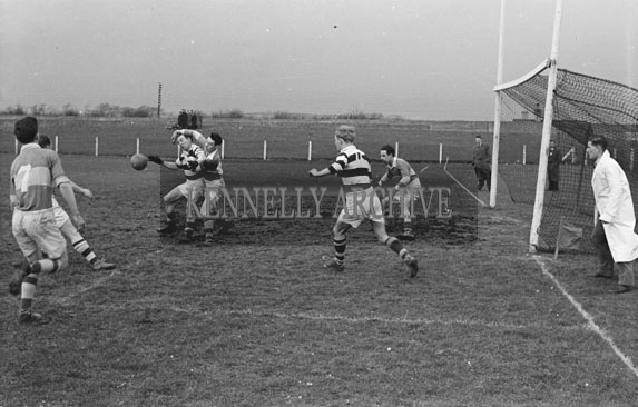 1954; Action Shots From a Football Match at Austin Stack Park, Tralee.
