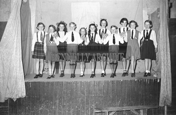 March 1954; Dancing From The Kilflynn Drama Group.