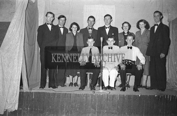 March 1954; A Group Shot Of The Kilflynn Drama Group.