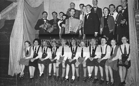 March 1954; A Group Shot Of The Kilflynn Drama Group.