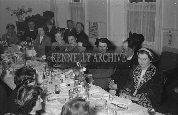 22nd April 1954; McElligott/Horgan Wedding Reception.