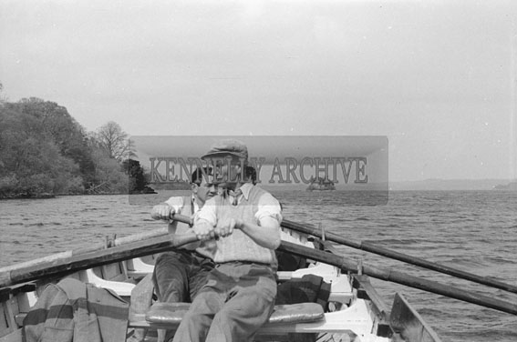 April 1954; A Group On A Boat On The Lakes Of Killarney.