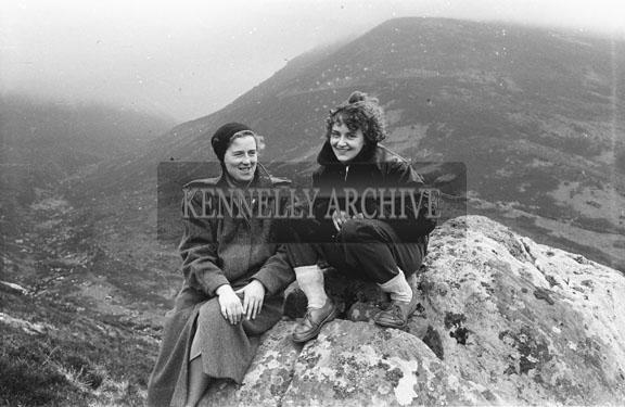 April 1954; Two Women Taking A Break From Hill-Walking In Killarney.