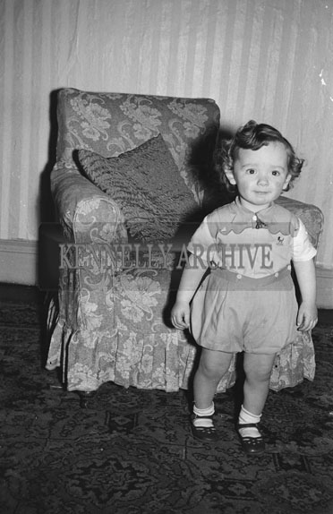 May 1954; A Studio Photo Of A Little Girl.