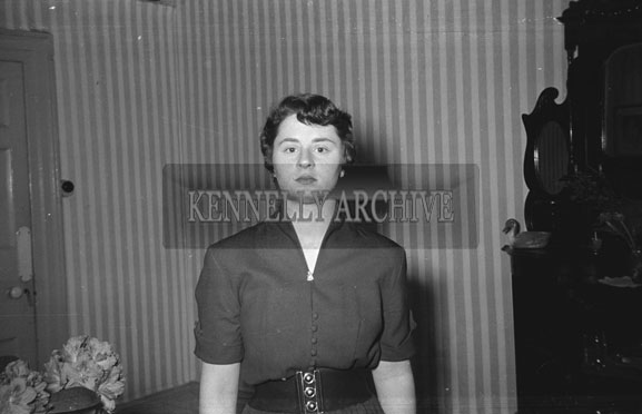 May 1954; A Studio Photo Of A Woman.