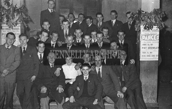 May 1954; A Group Posing For The Camera At A Rathmore Social. Music By The Regal Band.