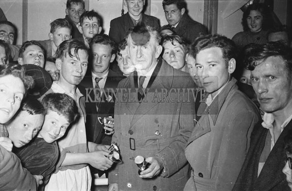 May 1954; A Trophy Presentation At An Tostal Basketball Final In Tralee.