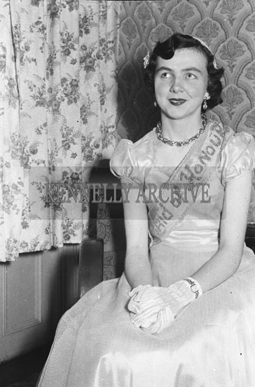 16th May 1954; The Carnival Queen's Maid Of Honour Posing For The Camera At The Rathmore Carnival Dance.