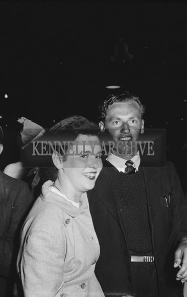 16th May 1954; A Couple Posing At The Rathmore Carnival Dance.