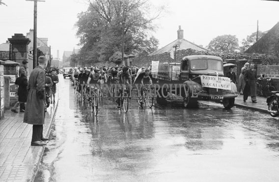 23rd May 1954; An Action Shot From The Enfield/Caball Cycle Race.