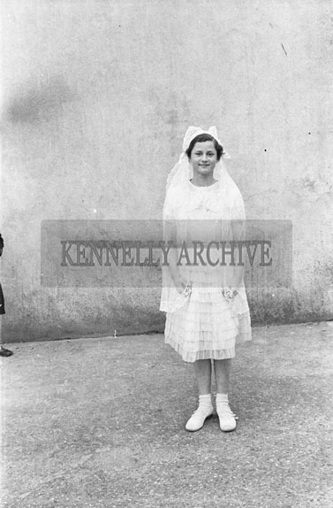 30th May 1954; Anna Fitzgerald On Her Confirmation At Castlegregory.