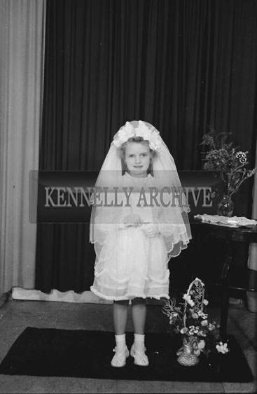 July 1954; A Studio Shot Of Miss Horan, Ballymullen, After She Made Her First Holy Communion.