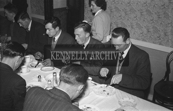 January 1954; A Group Enjoying The Night At The Churchill Macra na Feirme Social At The Meadowlands Hotel, Tralee.