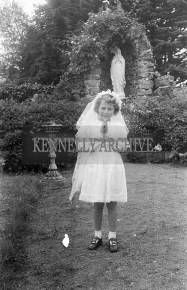 24th June 1954; A Girl Who Celebrated Her First Holy Communion At The Presentation Convent, Tralee.