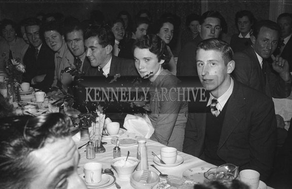 January 1954; A Group Enjoying The Night At A Social In The Meadowlands Hotel, Tralee.