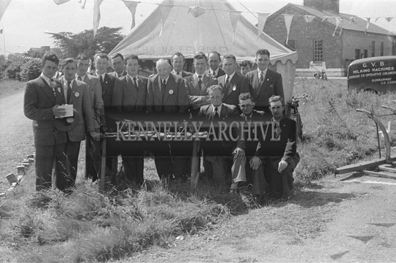 22nd June 1954; Officials Posing For The Camera At The Show Jumping Event During The Kingdom County Fair, Tralee.