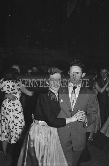 July 1954; Couples Dancing At A Social.