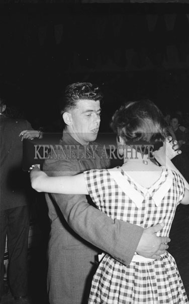 July 1954; A Couple Dancing At A Social.