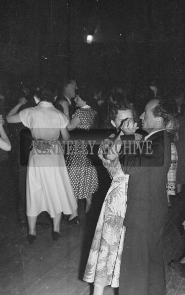 July 1954; Couples Dancing At A Social.