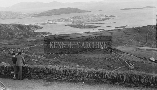 July 1954; A Photo Of A Couple Taking In The Beautiful View Of Derrynane Bay, Co. Kerry.