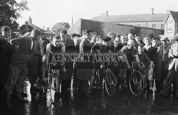 27th July 1954; The Start Of The Healy Cup Cycle Race, Tralee.