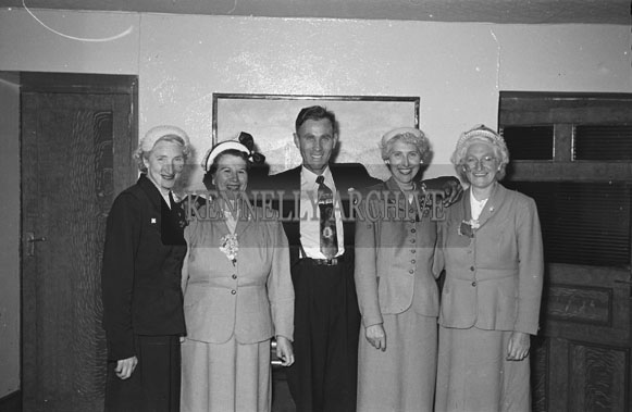 August 1954; A Group Posing For The Camera At A Wedding In The Meadowlands Hotel, Tralee.